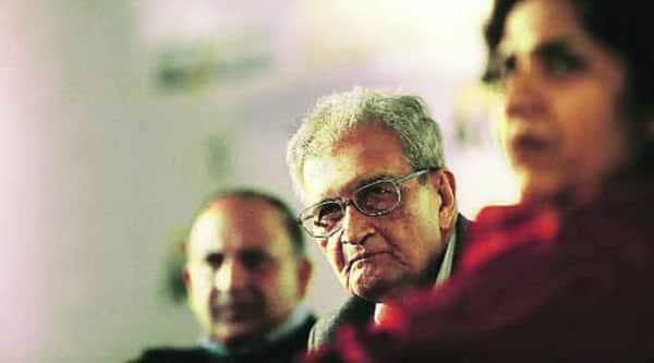 Nobel laureate Amartya Sen at the Express Adda in New Delhi on Saturday. (( Source: Express photo by: Praveen Khanna)