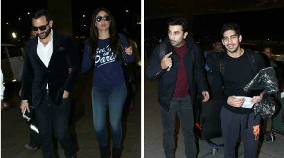 Kareena, Saif, Ranbir take off for the holidays