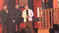 Hold your breath! The Khan Trinity – Shah Rukh Khan, Salman Khan, Aamir Khan – on stage together!