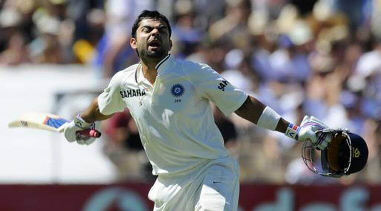 Virat Kohli brought up his maiden Test hundred in the third Test against Australia in Adelaide in 2013. (Source: AP)