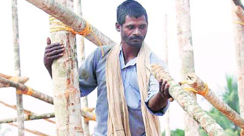 Varma works as pandal worker, and this is a season of high demand