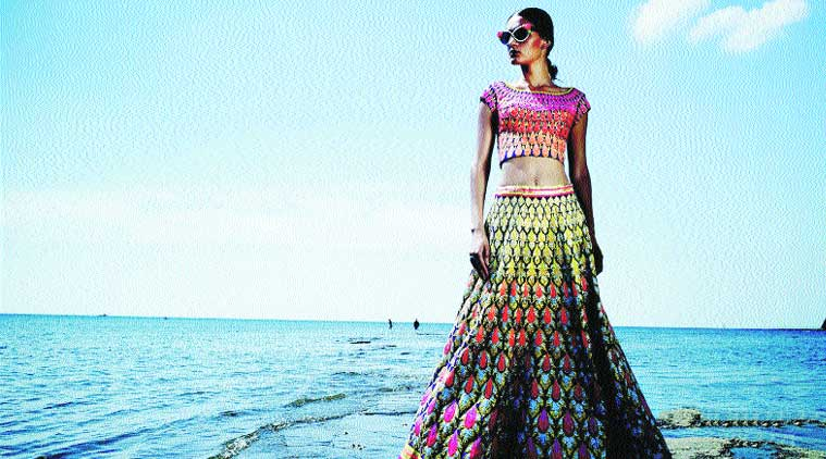 An outfit from Abu Jani & Sandeep Khosla's bridal collection 'Renaissance'