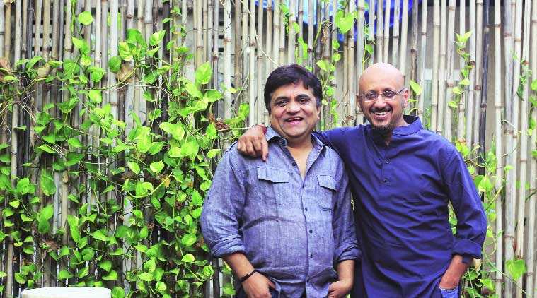 Lyricist Swanand Kirkire and composer Shantanu Moitra (source: Express photo by Amit Chakravarty)
