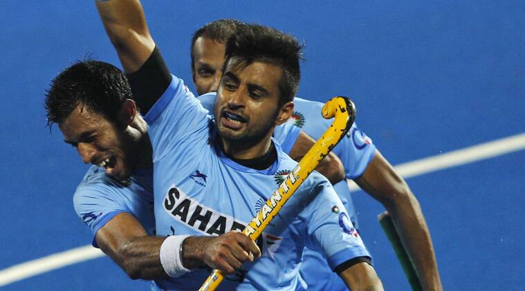 Manpreet gave India a crucial lead and then Rupinderpal converted a PC to make it 3-2. (Source: AP)