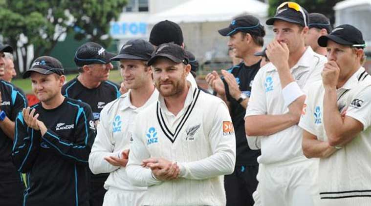 McCullum smashed 195 runs from 134 balls at Hagley Oval to lead New Zealand to 429 for seven at the close of the first day's play of the first test against Sri Lanka, despite his side having been put in on a green-pitch. (Source: IE File)