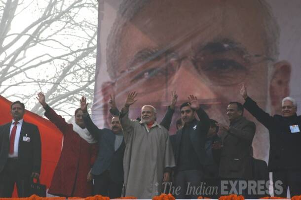 PM Narendra Modi addresses rally in Kashmir, says finger pressing EVM more powerful than one on AK-47