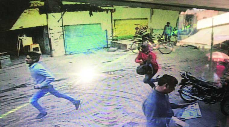 Police said five shots were fired at Chauhan and three bullets hit his head. (Source: Express Photo)