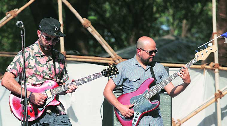 (From left) The Barmer Boys opened the music festival on Saturday; Los Dorados added the Mexican flavour to it.