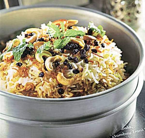 Mutton berry pulao, Dhansak, Parsi