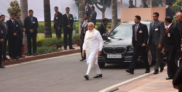Prime Minister Narendra Modi salutes martyrs of 2001 Parliament attack