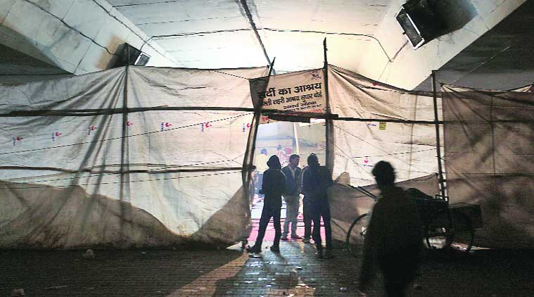 During inspection at night shelters, DUSIB found several of the homeless under the influence of drugs. (Source: Express photo by Oinam Anand)
