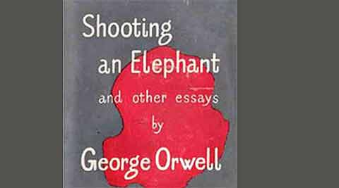 Orwell wrote that he did not want to shoot the elephant, but with throngs watching him, could not figure out a way not to as a sahib, a man of stature.