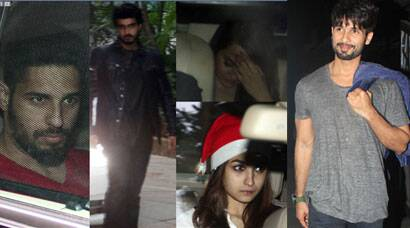Alia, Sidharth, Arjun, Sonakshi party with Ranbir; Shahid with Jackky Bhagnani