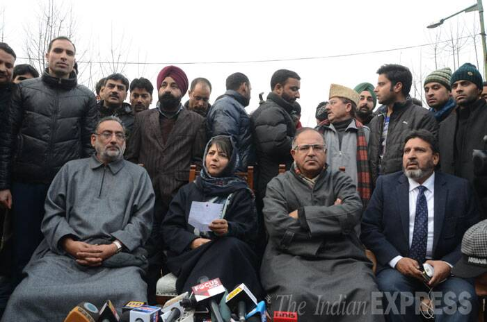 PDP workers celebrate victory in Jammu and Kashmir Assembly elections