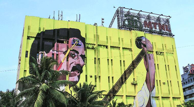 The mural is located off Western Express highway near Bandra Reclamation.