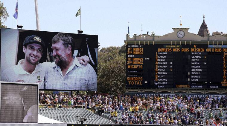 There was a small video tribute to Hughes narrated by Richie Benaud. (Source: AP)