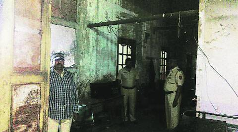 Electricity supply has not been restored at the GRP block whose wooden beams had been damaged, and furniture was gutted.  (Source: Express File photo)
