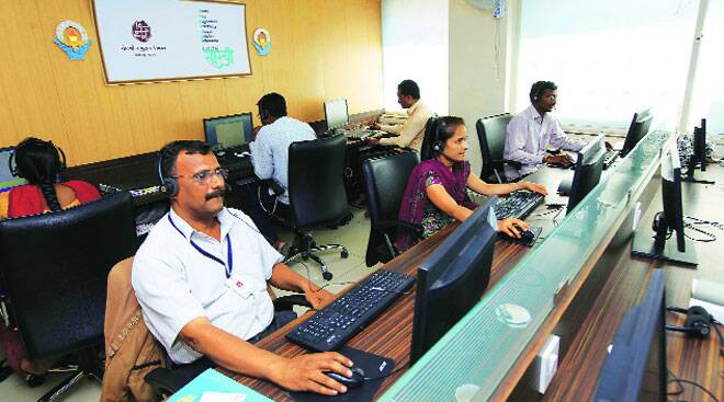 The call centre claims to have received nearly 1 lakh calls in three and a half months.(Source: IE photo by Pavan Khengre)