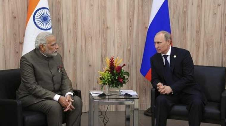 Russian President Vladimir Putin with Prime Minister of India Narendra Modi. (Source:Reuters)