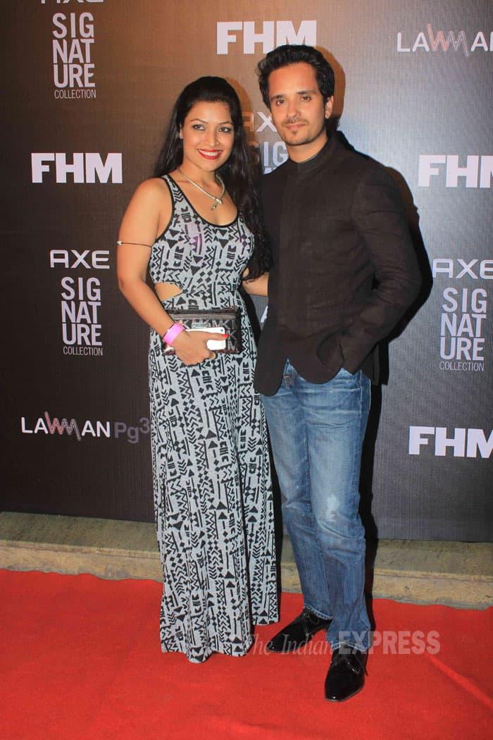 Singer Raghav Sachar was accompanied by wife Amita Pathak. (Source: Varinder Chawla)