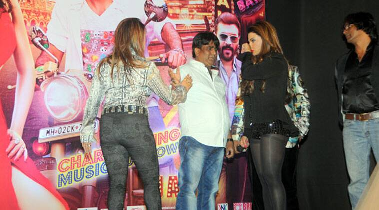 The incident occurred at a posh hotel in suburban Santacruz, before the music launch of the film 'Mumbai Can Dance Saala', police said.