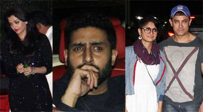 Aishwarya Rai, Abhishek, Aamir, Kiran, Alia party at Ranbir - Katrina's apartment
