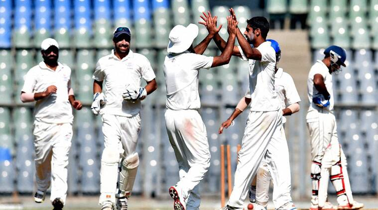 At stumps on day three, first innings centurion Shubham Khajuria (34) and Bandeep Singh (11) were at the crease. (Source: PTI)