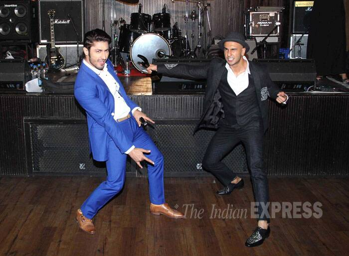 Bollywood heartthrob Ranveer Singh, voted as Bachelor of the Year 2014 by FHM, was the life of the award show in Mumbai on Monday (December 22). Ranveer, who is gearing up for 'Dil Dhadakne Do' and 'Bajirao Mastani' showed off his antics along with actor Vidyut Jamwal. (Source: Varinder Chawla)