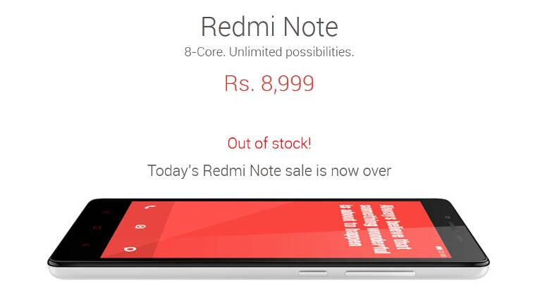 Xiaomi Redmi Note 'resale' starts within minutes after it goes out of stock