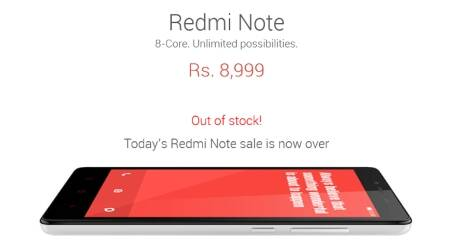 Xiaomi Redmi Note goes out of stock, but 'resale' starts soon after