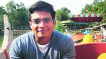 R. Madhavan takes a joyride at an amusement park
