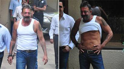 Sanjay Dutt on a 14-day furlough; loses weight but maintains the 6-pack abs