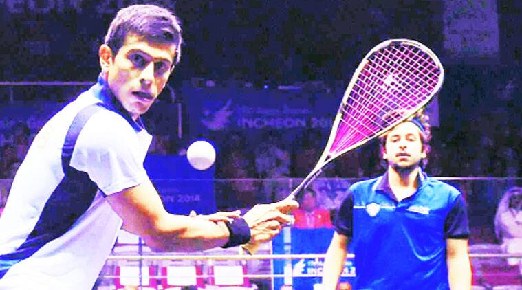 Saurav Ghosal (foreground) won a silver at the 17th Asian Games held in Incheon, South Korea.