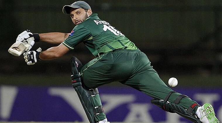 Shahid Afridi scored 61 off 51 balls to carry Pakistan to 250-7 (Source: AP)