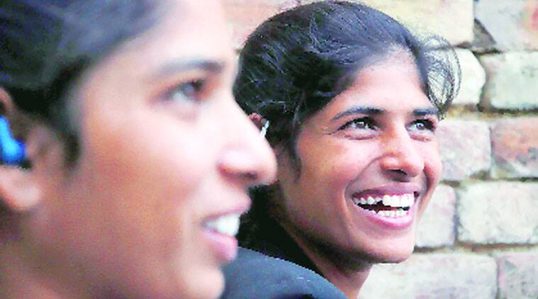 The two sisters in Rohtak on Monday. ( Source: Express photo by : Gajendra Yadav)