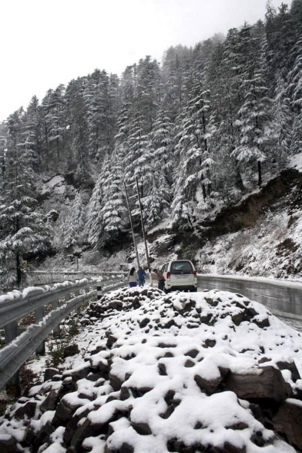 Shimla receives season's first snowfall