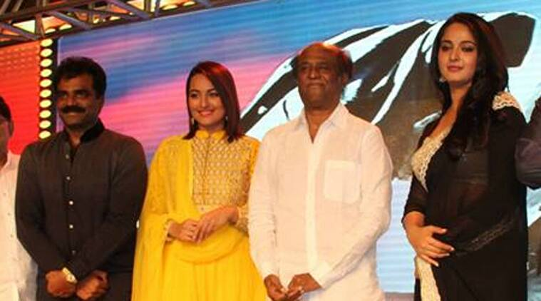Rajinikanth said he didn't feel so nervous even on the first time he faced the camera as much as he did when asked to shoot duets with Sonakshi. (Source: Facebook)