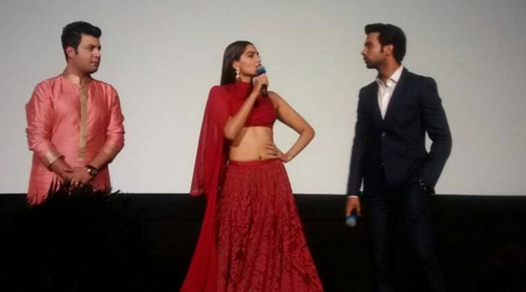 The trailer of 'Dolly Ki Doli' was unveiled by the film's actress Sonam Kapoor on the occasion of its producers Arbaaz Khan and Malaika Arora Khan's wedding anniversary Friday.
