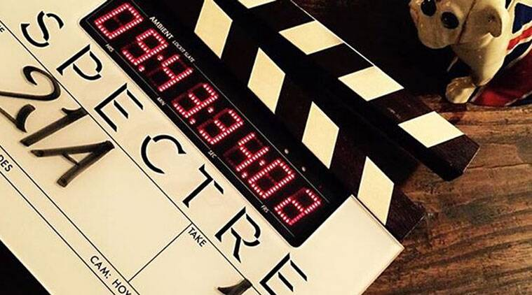 The first picture from the set of new James Bond movie 'Spectre' unveiled.