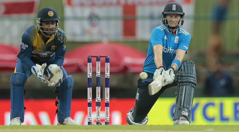 The Yorkshire right-hander, who hit seven fours in his 117-ball knock, reached his hundred by slog-sweeping Ajantha Mendis for a six in the penultimate over. (Source: AP)