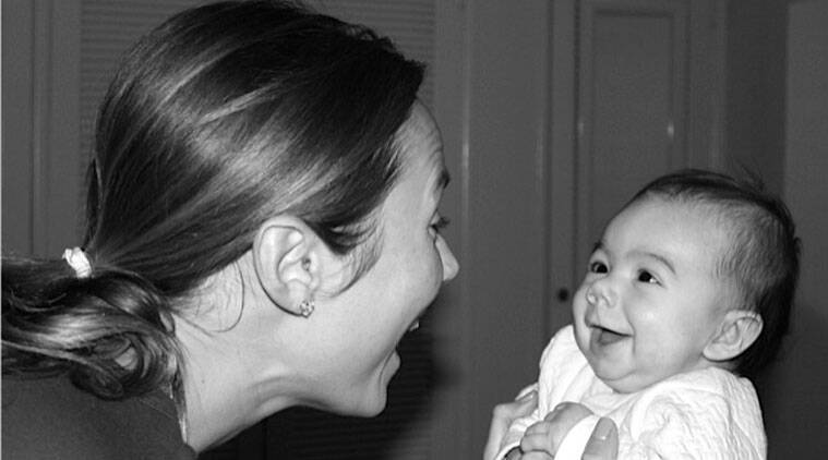 Stacy Keibler shares the first picture of her baby girl, Ava Grace, on her blog.