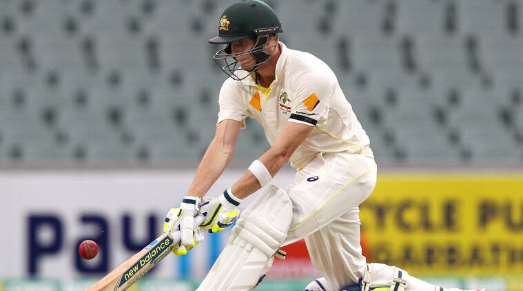 Australia's Steve  Smith tries to reverse sweep during his innings of