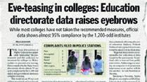 Wrong data on eve-teasing in colleges: Fresh figuressought