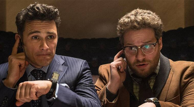 James Franco in a still from The Interview