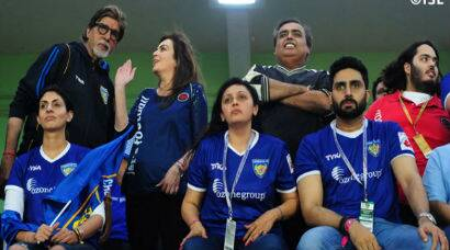 Amitabh Bachchan, daughter Shweta Nanda cheer for Abhishek's team at ISL