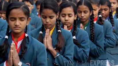 #IndiawithPakistan: Indian school children pray for the kids killed in Peshawar attack