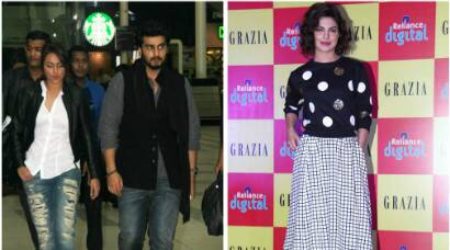 'Tevar' couple Arjun Kapoor, Sonakshi Sinha return to Mumbai, Priyanka Chopra rocks monochrome
