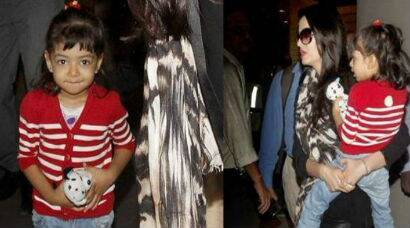 PHOTOS: Aishwarya Rai Bachchan returns from London with Aaradhya in tow