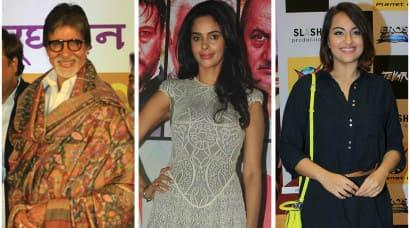 Working weekend: Amitabh Bachchan, Mallika, Sonakshi, Malaika