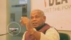 Bihar Chief Minister Jitan Ram Manjhi explains the idea of Mahadalit